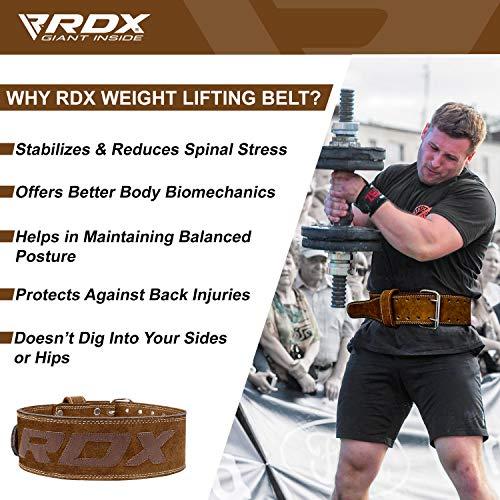 Authentisch RDX Gewichthebergürtel Nubuk Leder Kraft Gewichtheben Strap Rückenstütze DE - 5