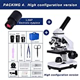 ZhenHe Zoom 2000X Micro Micro Abjustment COAXIAL HD Microscopio Biológico Microscopio electrónico Monocular Estudiante Laboratorio Educación LED USB (Color : Package 4)
