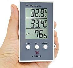 ACAMPTAR Termómetro Higrómetro Medida de Humedad Temperatura Medidor de Lcd Digital Probador de Estación Meteorológica Exterior Interior Celsius/Fahrenheit Max Min Valor