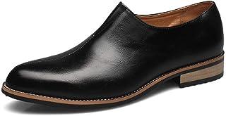 [Aisxle] スリッポン メンズ ビジネスシューズ カジュアル ローファー 紳士靴 ローカット ストレートチップ ウォーキング 快適