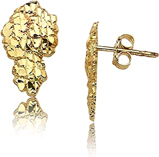 gold nugget earrings price
