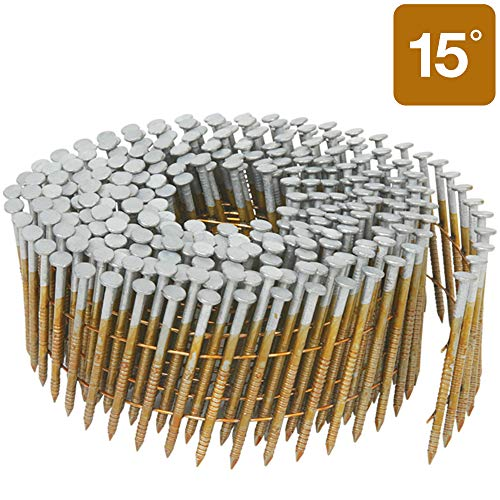 Metabo HPT Siding Nails, 2-Inch x .092-Inch, Collated Wire Coil, Full Round Head, Ring Shank, Hot-Dipped Galvanized, 3600 Count (13365HHPT)