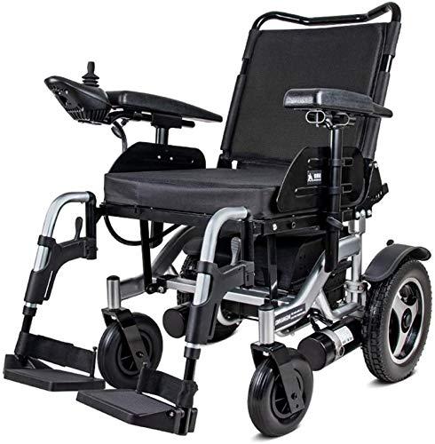 Y DWAYNE Sedia A Rotelle Elettrica Scooter Anziani Disabili Sedia A Rotelle in Lega di Alluminio Pieghevole Sedia A Rotelle Gonfiabile