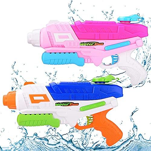 Pistola ad Acqua per Bambini, 2 pezzi Pistole ad Acqua 600CC Giocattoli per Blaster ad Alta Capacità per Acqua ad Alta Capacità Regali per Ragazzi Ragazze Adulti Piscina Estiva