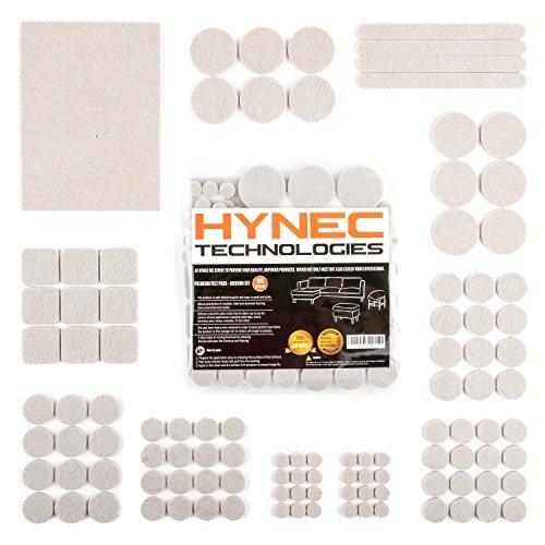 Hynec Premium Möbelschoner/Filzunterlage Mittleres Set mit 7 verschiedenen selbstklebenden Stickern aus Filz für Möbel Filzgleiter MEDIUM Set
