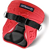 easy on-off red dog Harness Vest with padded Interior