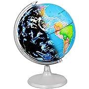 CamKing Illuminated World Globe for Kids Educational/Study Geographic Map Globe (DQ-1)