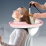 Aufblasbare Shampoo-Schüssel, tragbares Haarwaschtablett für Bett und Bett, leichtes Shampoo-Waschbecken für ältere Menschen, Behinderte, Schwangere, Verletzte, Bedridge, Handicap
