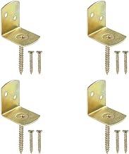 vidaXL Hekpaneelbeugels 4 st L-vorm gegalvaniseerd metaal