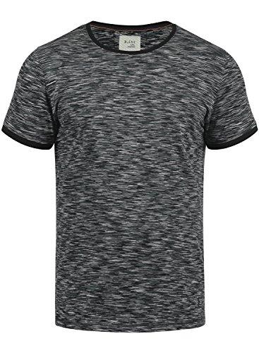 Blend Lex Herren T-Shirt Kurzarm Shirt Streifenshirt Mit Streifen Und Rundhalsausschnitt 100% Baumwolle, Größe:M, Farbe:Black (70155)