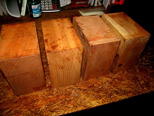 """COLIBROX 4 Beautiful Black Cherry Kiln Dried Bowl Blanks Turning Block Wood Shop Small Projects Ready to Finish Turn Approximately 6"""" X 6"""" X 3"""""""