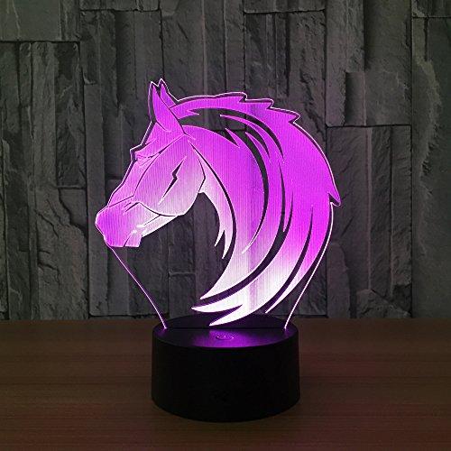 Aliens en roofdieren 3D nachtlampje kinderen nachtlampje 7 kleuren veranderende optische illusie kinderlamp – perfect cadeau voor jongens, meisjes met Kerstmis verjaardag of vakantie