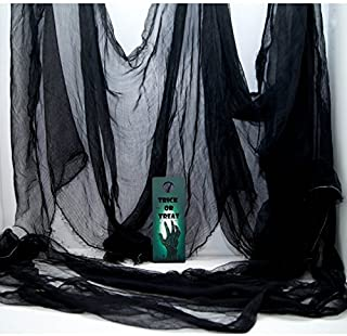 Giant Halloween Creepy Cloth Size 36 Inches x 200 Inches and Decorative Door Hanger
