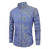 メンズロングスリーブコットンシャツメンズレッドプラッドシャツビジネスデイリーワークスリムエディション-スタンドカラーシャツ(ブラック、
