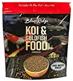 Blue Ridge Fish Food Pellets [5lb], Koi and Goldfish Cool Water Wheat Formula, Floating 3/16' Pellet, Balanced Diet