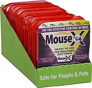 RatX 100534057 MouseX Ready To Use Bait Tray, Single Pack