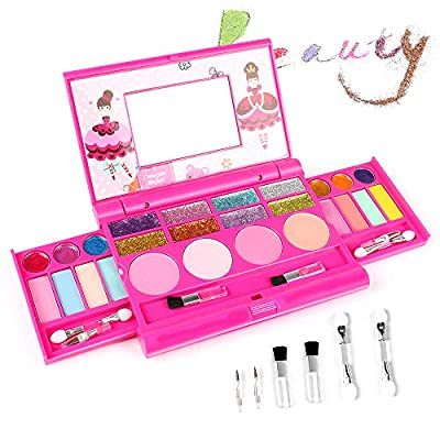 AMOSTING Real Makeup Toy For Girls Pretend Play Cosmetic Set Make Up Toys Kit Gifts for Kids by AMOSTING