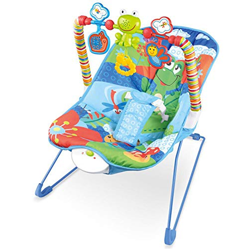 C-Qing Baby Cradle Multi-Functional Music Electric Swing Appease Rocking Chair,Baby Bouncer for Boy&Girls,Best Infant Friend Toys,A