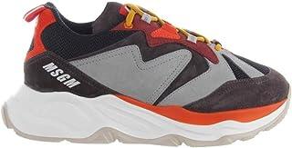 Luxury Fashion | Msgm Men 2740MS208660298 Grey Leather Sneakers | Season Outlet