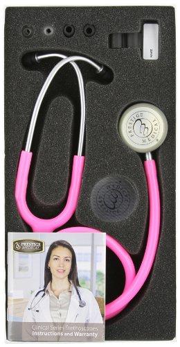 Prestige Medical Clinical Lite Stethoscope, Hot Pink