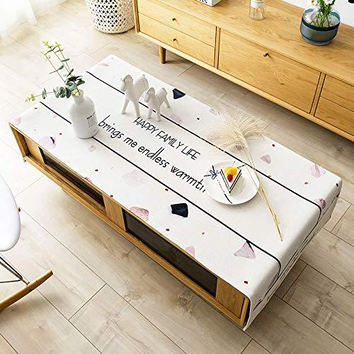 LYDCX Nordic Couchtisch Tischdecke Stoff Couchtisch Tischdecke Tuch Tv-Schrank Abdeckung Nachttisch Abdeckung B 70X160 cm