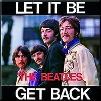 The Beatles Let It Be Get Back Nue Official 76mm x 76mm aimant de réfrigérateur