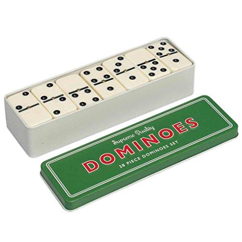 C63® Traditioneel Dominos-spel. Set van 28 stuks, in metalen blik.