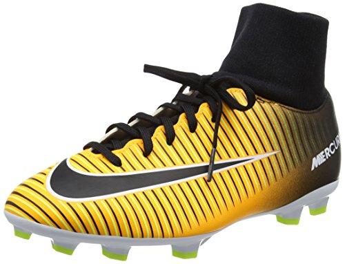 Nike Mercurial Victory VI DF Fg, Scarpe da Calcio Uomo, Arancione (Laser Orange/Black-White-Volt), 37.5 EU