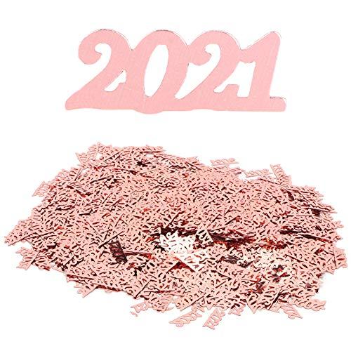 XinPengtai 2021 Confeti Plata 100G Boda Año Nuevo Cumpleaños Fiesta Graduación Decoración Graduación Aniversario Pastel Decoración Boda Despedida de Soltera Regalo Fiesta