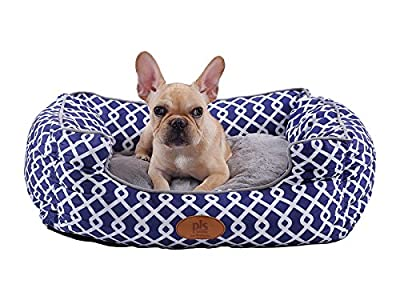 Bolster Dog Bed With Removable washable cover
