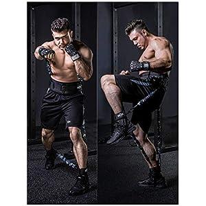 MMA Boxing Training Natural Latex Resistance Band Set Bodybuilding Training Equipment for Men&Women (300LB Camo Sand-Yellow)