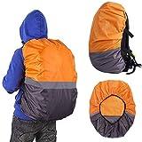 リュックカバー リュック レインカバー ランドセル ザックカバー オレンジ2020最新のスタイル 防水 反射材 雨具 かわいい バックパック バッグカバー 通勤 通学 自転車 (M(30L-40L), オレンジ)