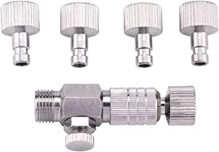 Adaptateur de déconnexion - Ensemble de raccords pour brosse à air Adaptateur de déconnexion avec 4 raccords mâles femelle...