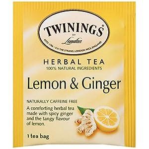 Twinings of London Lemon & Ginger Herbal Tea Bags, 25 Count (Pack of 6)