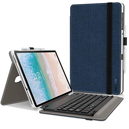 INFILAND Samsung Galaxy Tab A 10.5 Tastiera Custodia, Ultra Slim Keyboard Case con Magnetico Rimovibile Tastiera per Galaxy Tab A 10.5' (SM-T590WIFI/SM-T595LTE) 2018 Tablet, Blu Scuro
