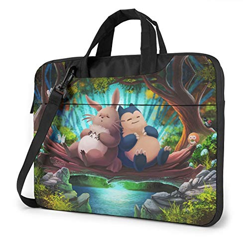 14 inch Laptop Sleeve Bag, My Neighbor Totoro Tablet Briefcase Ultra Portable Protective Shoulder Shockproof Laptop Canvas Cover MacBook Pro