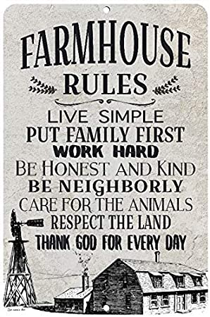 Farm Life 8x12 Metal Sign \u2022 Farmhouse Sign