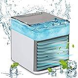 Ventilador de aires acondicionado portátil, enfriador de aire USB silencioso con aire acondicionado...