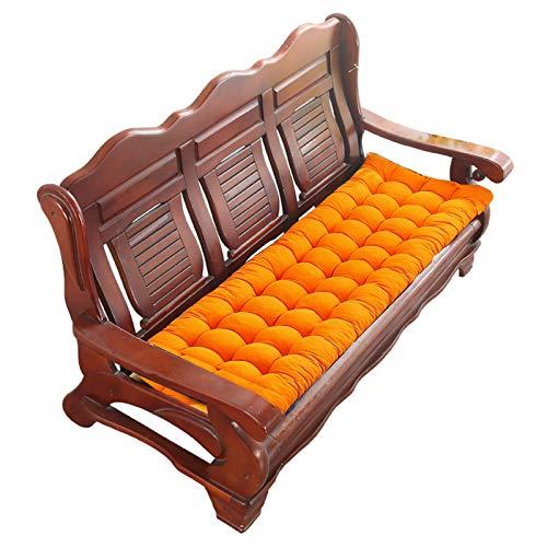 YYEWA Cojín para sofá de Dos plazas para Interiores y Exteriores, cojín para Banco de Patio, Suaves mecedoras, cojín para Tumbona, Asiento reclinable, cojín Grueso, para sofá,Naranja,A