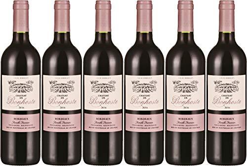 Château de Bonhoste 2016 A.O.C. Bordeaux Rouge Weinpaket Rotwein trocken (6x0,75l)