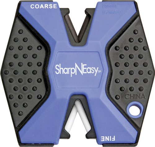 Accusharp Lightweight Sharp-N Easy Outdoor Knife Sharpener available in Blue -