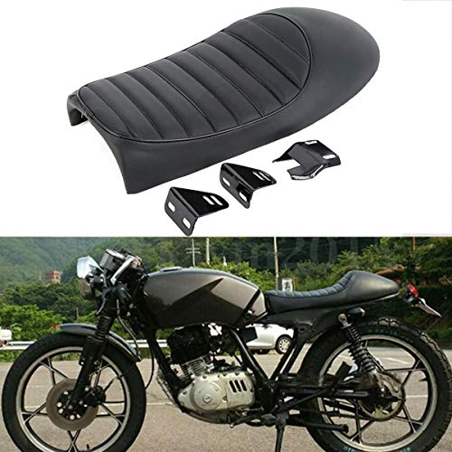 XFMT Black Hump Cafe Racer Motorcycle Seat Saddle Compatible with Suzuki GS Yamaha XJ Honda CB