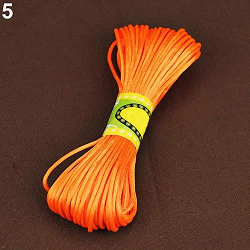 LLAAIT 20 Meter 2mm Rattail Satijn Koord Nylon Macrame Braiding String Breien Touw Arts, Ambachten & Naaien ORANJE