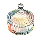 Danmu art bombonera cristal tarro de vidrio storage tarro de almacenamiento plato de caramelo caja 280ml