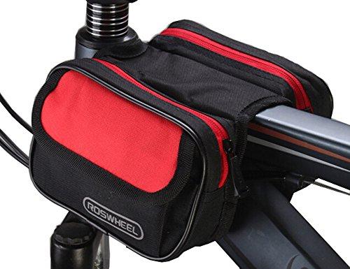 Housse Sac cadre de la bicyclette Pannier avant Tube pour le téléphone portable