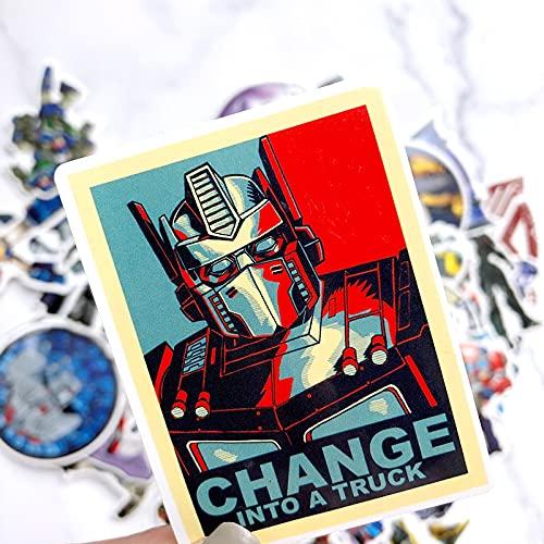 ZNMSB 50 Nuevas Pegatinas de Robot, Caja de Carro, Guitarra, Coche eléctrico, Pegatinas de Graffiti a Prueba de Agua