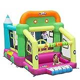 Qazxsw Air Schloß,Kinderrutsche Outdoor Kleiner Spielplatz Familie Platz Trampolin Kinderlaufstall Kind,Colors,225 * 350 * 220cm