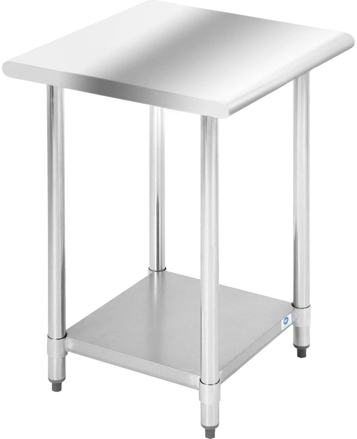 Kitchen Work Table Stainless Steel Commercial NSF Metal Scratch OFFicial store price