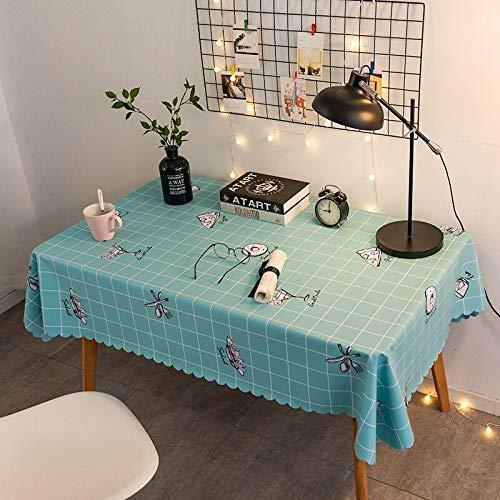 XXDD Mantel a Cuadros Simple Impermeable, a Prueba de Aceite y a Prueba de Polvo Mantel de impresión Lavable A19 140x140cm
