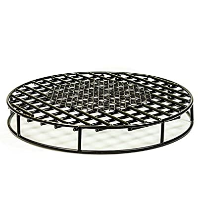 "Walden Fire Pit Grate Round 29.5'' Diameter Premium Heavy Duty Steel Grate with Ember Catcher for Outdoor Fire Pits - EMBER CATCHER - The above ground fire grate has a large ember catcher that helps keep the fire hotter and brighter by keeping the hot coals in the fire. The fire pit grate keeps wood off the ground which allows for better airflow coming from underneath the fire. This maximizes flames and creates a less smoky fire. HEAVY DUTY - This fire pit grate is made from special high carbon hardened steel which is 45% stronger than common steel. With its 29.5"" diameter and ½ Inch steel it fits in just about any large fire pit. Great for 30 inch fire pits. QUALITY BUILT TO LAST - With stringent focus on quality, our fire grate is built to last as long as you do. You won't have to shop fire grates any longer! - patio, outdoor-decor, fire-pits-outdoor-fireplaces - 51P3EW3LTzL. SS400  -"